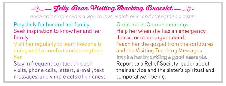 Jelly Bean Visiting Teaching Bracelet Inkablinka Color Meanings
